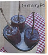 Blueberry Popsicles Wood Print