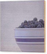 Blueberry Splash Wood Print