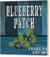 Blueberrys Wood Print