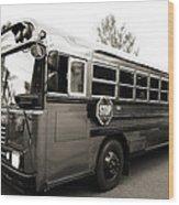 Bluebird Bus Limo 2 Wood Print