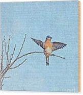 Bluebird Wings - Minimalism Wood Print