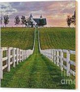 Bluegrass Farm Wood Print