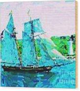 Bluenose Schooner In Halifax Wood Print