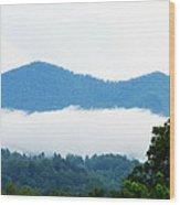 Blueridge Mountain Splendor Wood Print by Ella Char