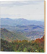 Blueridge Parkway View 2 At Mm 404  Wood Print