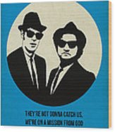 Blues Brothers Poster Wood Print