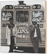 Blues Bus Wood Print by Patrick Kelly