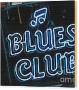 Blues Club On Bourbon Street Nola  Wood Print