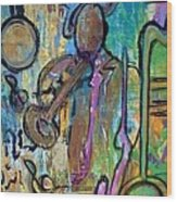Blues Jazz Club Series Wood Print