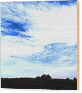 #blueskies Wood Print