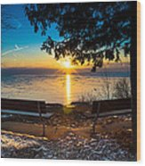 Bluff  Benches Wood Print