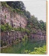Bluffs Near Marina Norris Dam State Park Wood Print