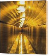 Blur Tunnel Wood Print