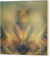 Blurred Abstract Colorful Background Wood Print