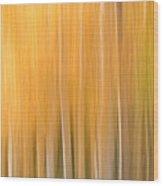 Blurred Aspens Wood Print