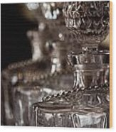 Blurred Bottles Wood Print by Mamie Thornbrue