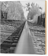 Blurred Track Wood Print