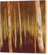 Blurred Trees Wood Print