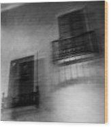 Blurry Shutters Wood Print