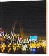 Blurry Waterfront 2 Wood Print
