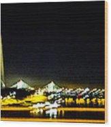 Blurry Waterfront 4 Wood Print