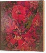Blushing Red Flowers  Wood Print