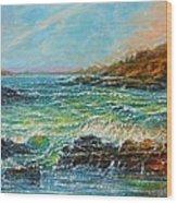 Blustery Day At Keehi Lagoon Wood Print