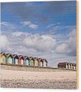 Blyth Beach Huts Wood Print