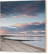 Blyth Harbour At Sunset Wood Print