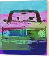Bmw 2002 Front Watercolor 1 Wood Print by Naxart Studio