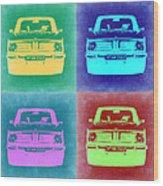 Bmw 2002 Pop Art 1 Wood Print by Naxart Studio