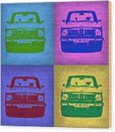 Bmw 2002 Pop Art 3 Wood Print by Naxart Studio