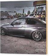 Bmw 335 Ci Twin Turbo Carbon Fiber Sports Car Wood Print