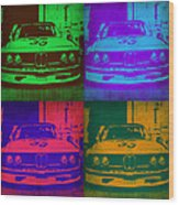 Bmw Racing Pop Art 1 Wood Print by Naxart Studio