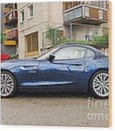 New Car On The Block Wood Print