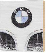 Bmw Z3 Emblem Sketch Wood Print