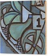 Bmx Freestyle Art Print Wood Print