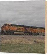 Bnsf Train 5833 A Wood Print