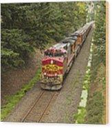 Bnsf Train 789 D Wood Print