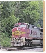 Bnsf Train Wood Print