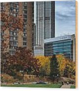 Bny Mellon From Duquesne University Campus Hdr Wood Print