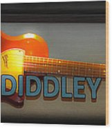 Bo Diddley's Guitar Wood Print