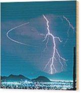 Bo Trek The Lightning Man Wood Print