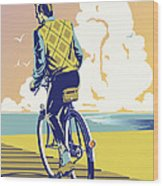 Boadwalk Bike Wood Print