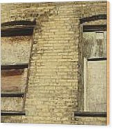 Boarded Windows 2 Wood Print