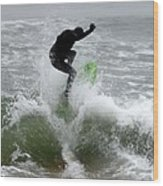 Boardskimming - Into The Surf Wood Print