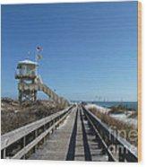 Boardwalk At Ponce Wood Print