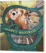 Boardwalk Bear Wood Print
