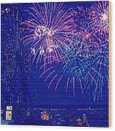 Boardwalk Fireworks Wood Print
