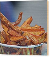 French Fries On The Boards Wood Print